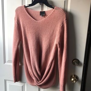 Long sleeved sweater (dusty rose color - Size L